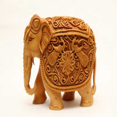Cedar Wood Carving Elephant