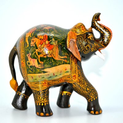 Painted Miniature Painting Elephant