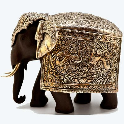 Wood with Metal Mysore Elephant