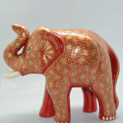 Paper Machie Elephant with trunk up