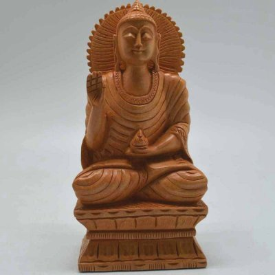 White Wood Buddha Rectangle
