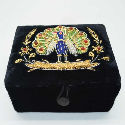 Valvet Embroidered Box