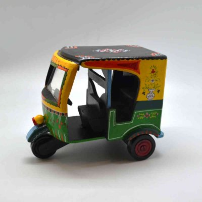 Wooden Indian Auto Rickshaw
