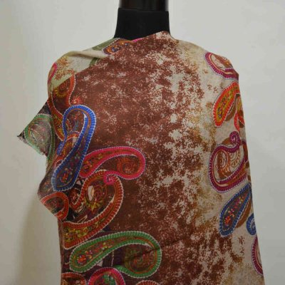 Fine Wool Digital Print Wrap / Stole