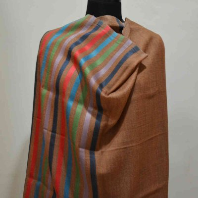 Pure wool silk stripes Wrap / Stole