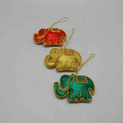 Cloth Hanging Elephant Set of 3