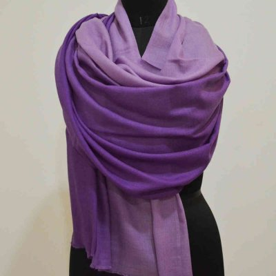 Pure Pashmina Shaded Wrap Birds Eye Weave