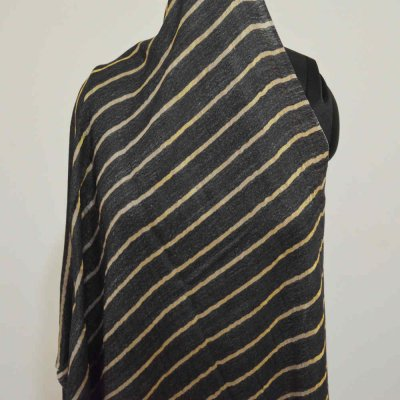 Cashmere Wool Golden Zari stripe