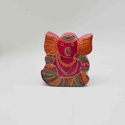 Pure Leather Ganesha Money Bank