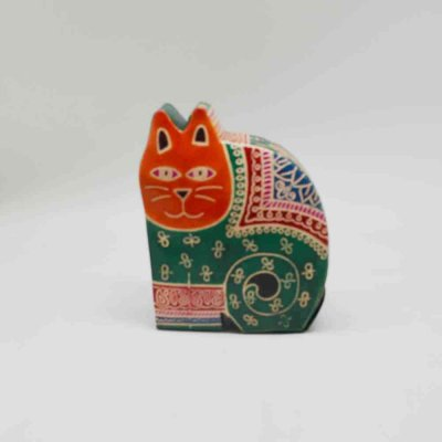 Pure Leather Cat Money Bank
