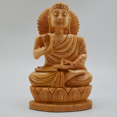 Whitewood Rectangle Base Budha