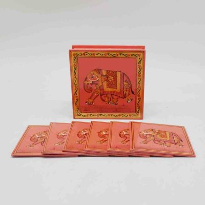 Hand Painting Wooden Coaster Set Of 6