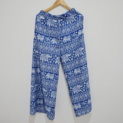 Rayon Harem Pant / Trouser With Elephant Print