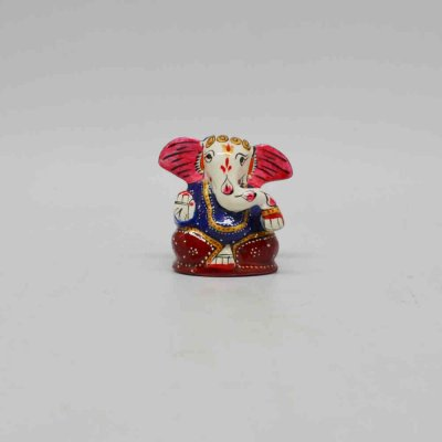 Metal Enamel Time Ganesh