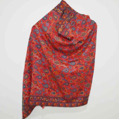 Fine Wool All Over Kani Wrap / Stole