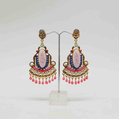 Fancy Earring With Colorful Stones