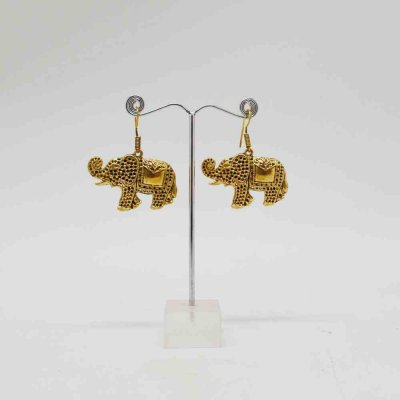 Elephant Drop Earring