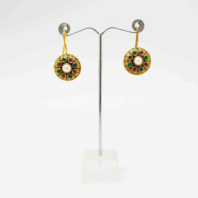 Drop Earring With Stones