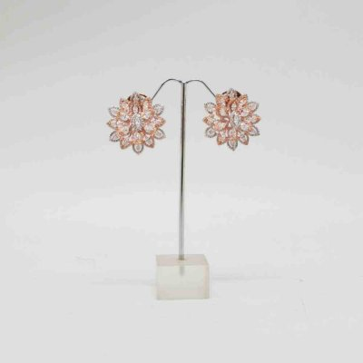 Stud Earring With Zircon Stone