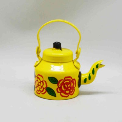 Handpainted Iron kettle