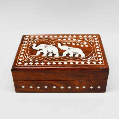 Handmade Shishamwood Inlay Jewellery box