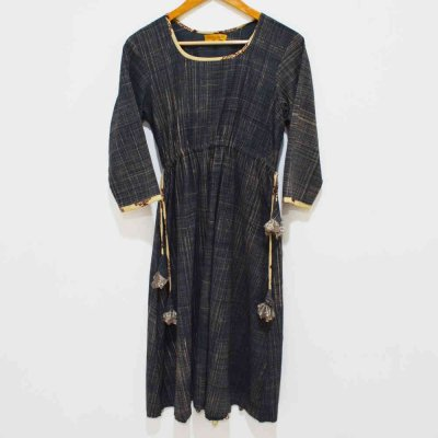 Cotton Dress with Tassel