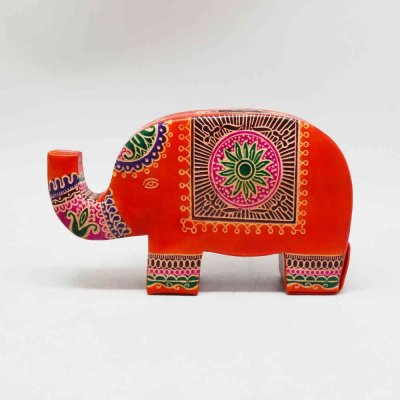 Pure Leather Elephant Money Bank