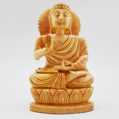 Whitewood Buddha (Sitting Position)