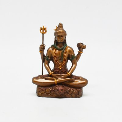 Poly Resin Shiva Sitting