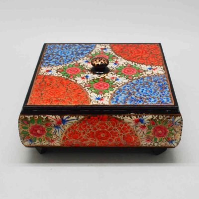 Handpainted Wooden Square Dry Fruit Box
