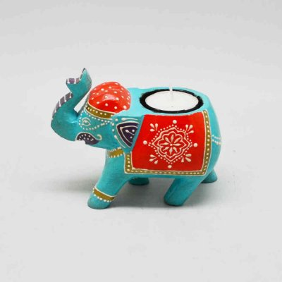 Elephant T- Light Holder (Without Candle)