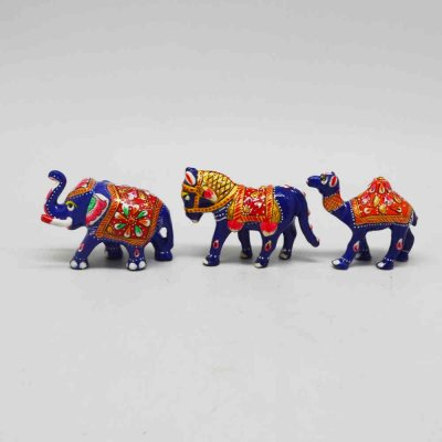 Metal Enamel Animals Set