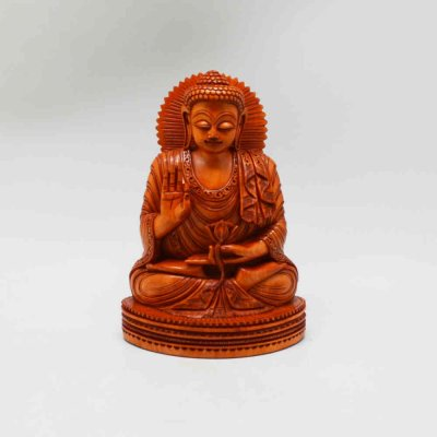 Wood Buddha Sitting