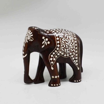 Handmade Wood Inlay Elephant D/T