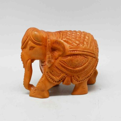 Diamond Cut Elephant With Miniature Carving