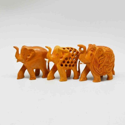 Whitewood Elephant Set of 3