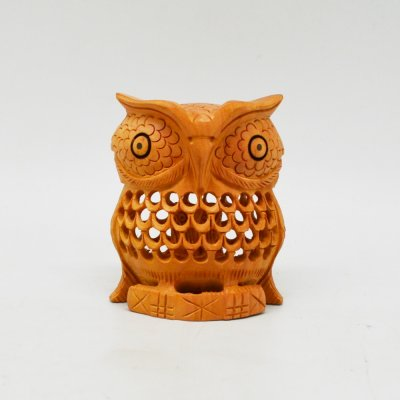 Whitewood Owl With Jali Work