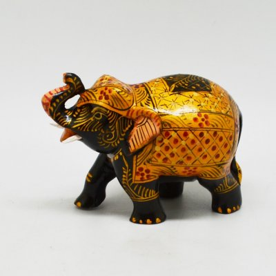 Elephant With Miniature Painted