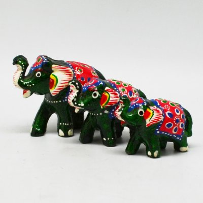 Lac Elephant Set of 3