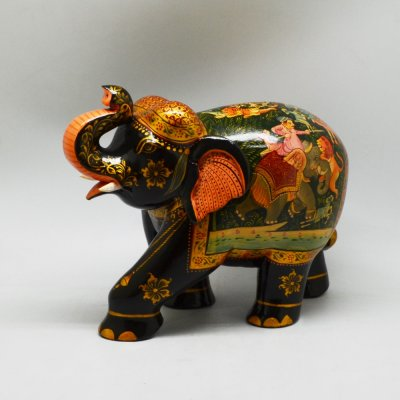 Handmade Wood Elephant Painting