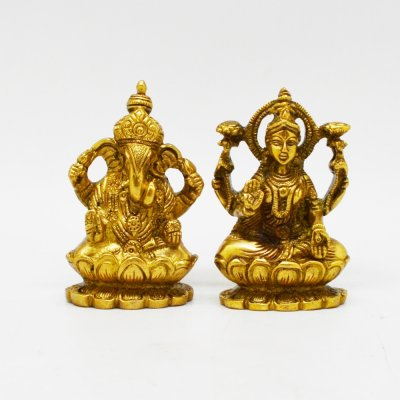 Ganesha And Lakshmi Pair