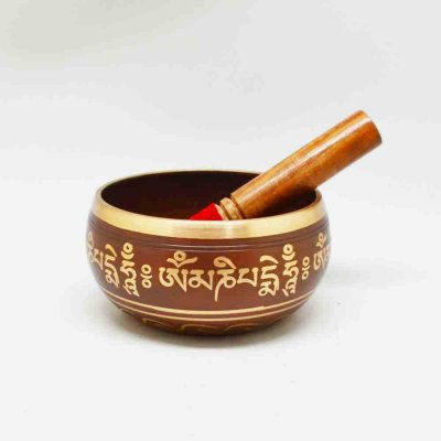 Brass Singing Bowl With Striker
