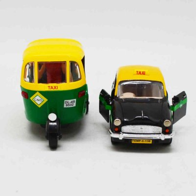 Auto & Taxi Toy Set of 2