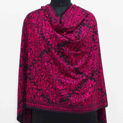 Cashmere Melange Wrap / Stole With Embroidery Work