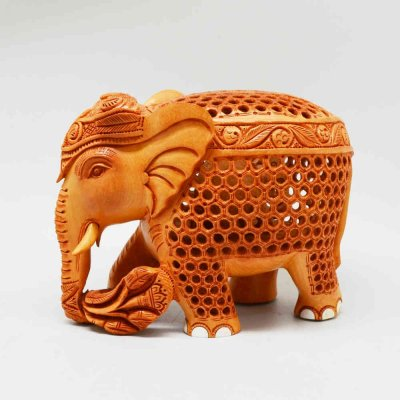 Whitewood Elephant Sitara Jali with Nail