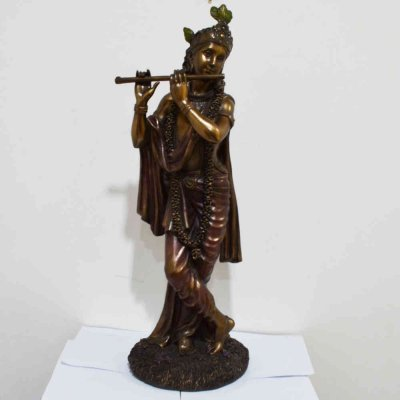 Polyresin Krishna Standing And Playing Flute