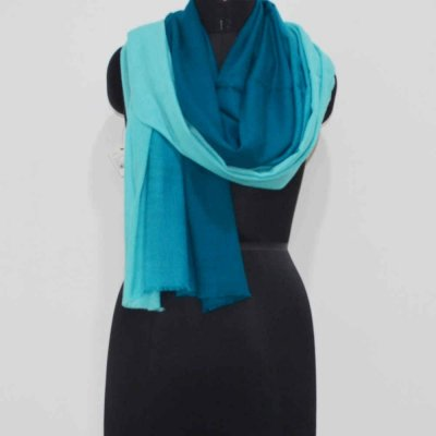 Pure Pashmina Shaded Birds Eye Weave Wrap / Stole
