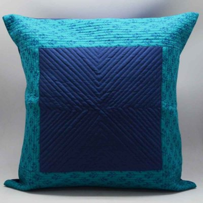 Cotton Dupion Fancy Striped Cushion Cover