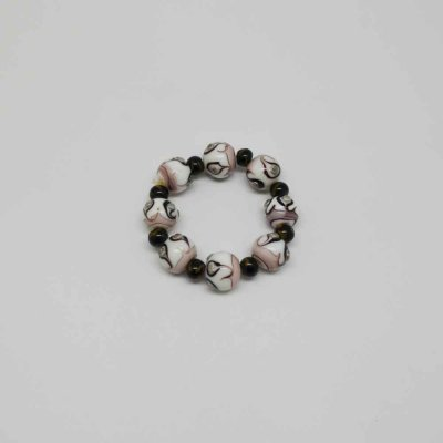Elastic Bracelet with Glass Beads