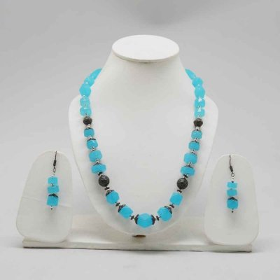 Brass and Metal Alloy Beaded Necklace/ Set/Kundan/Oxidised Pendent Set - No Nickel